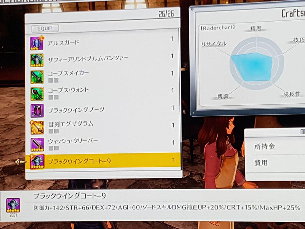 SAO HR 蒼空の闘士 ブラックウイングコートの進化厳選!(ステやOPなど)