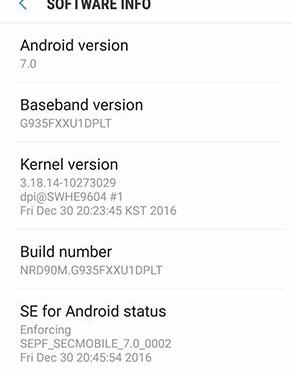 Galaxy S7 edgeにAndroid7.0 Nougatの公式アップデートが来ましたっ!
